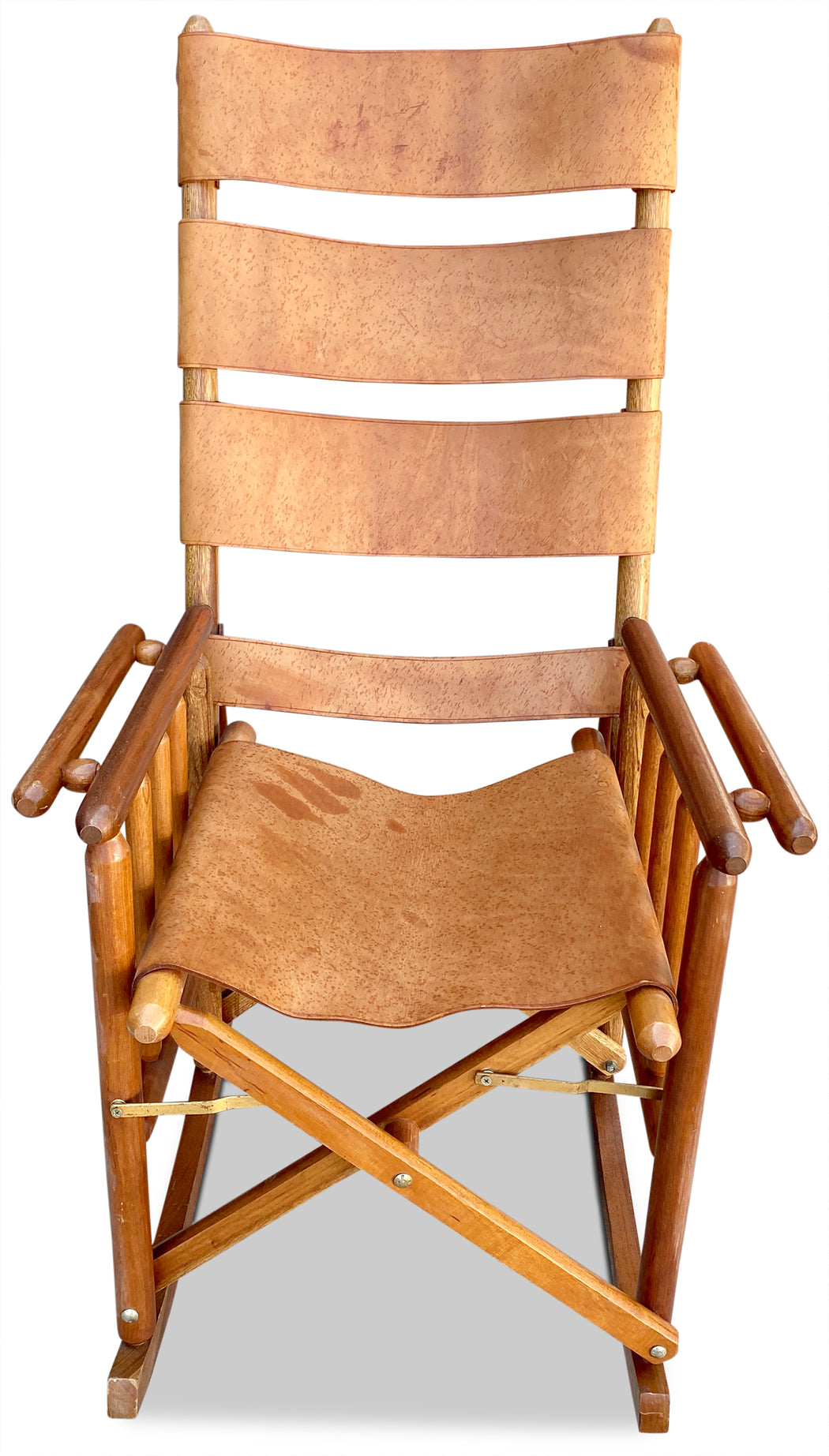 Leather Sling Rocking Chair