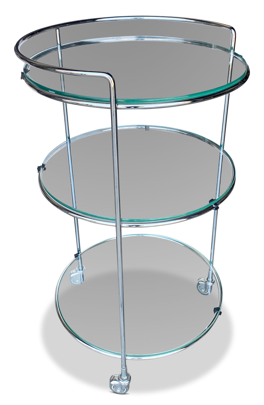 Three Tier Chrome Bar Cart