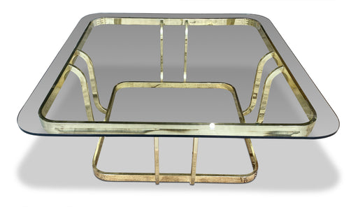 Brass + Glass Coffee Table