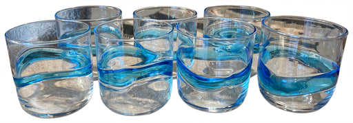 Set of 7 Blue Wave Tumblers