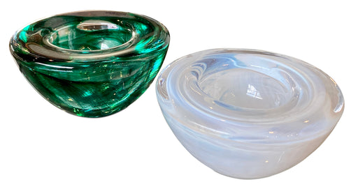 Pair of Swirled Glass Mini Catch Alls