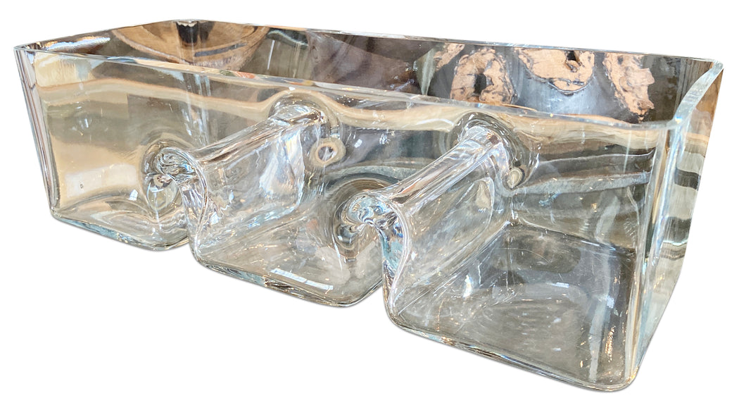 Three Compartment Glass Tray