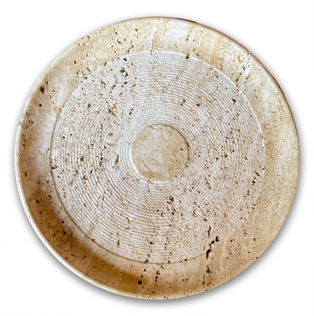 Vintage Travertine Plate