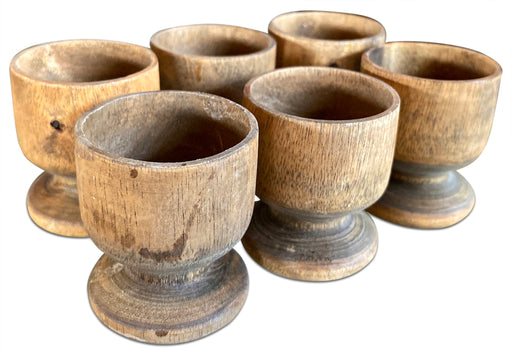 Set of 6 Wood Shot Glasses