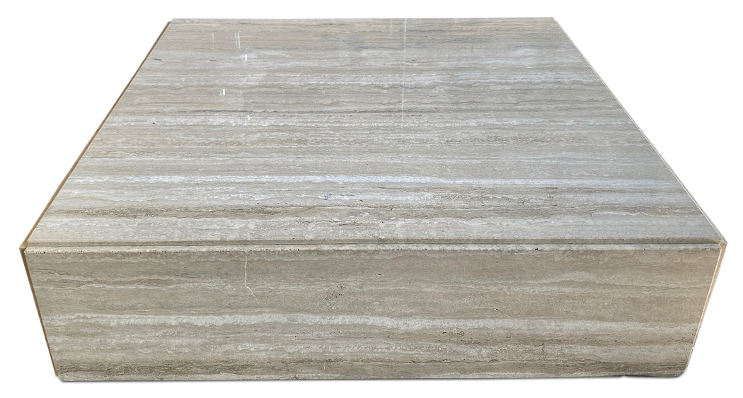 Travertine Low Coffee Table