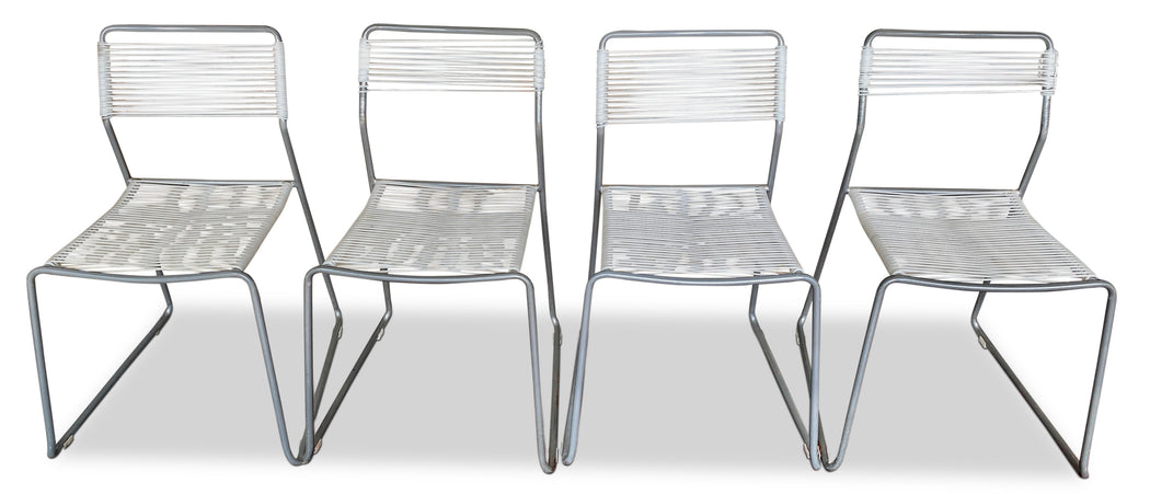 Set of 4 Vintage Walter Lamb Style Patio Chairs