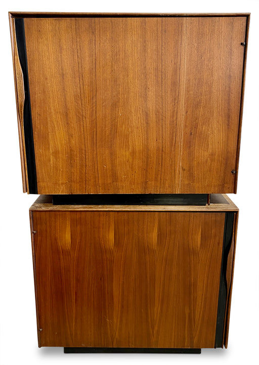 Pair of John Kappel MCM Walnut Cabinets