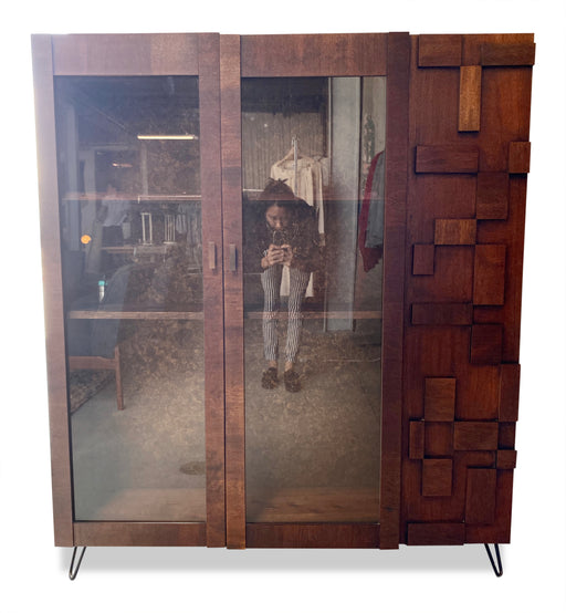 MCM Wood Blocked Cabinet