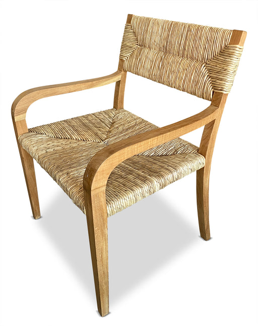 Wood Wicker Arm Chair