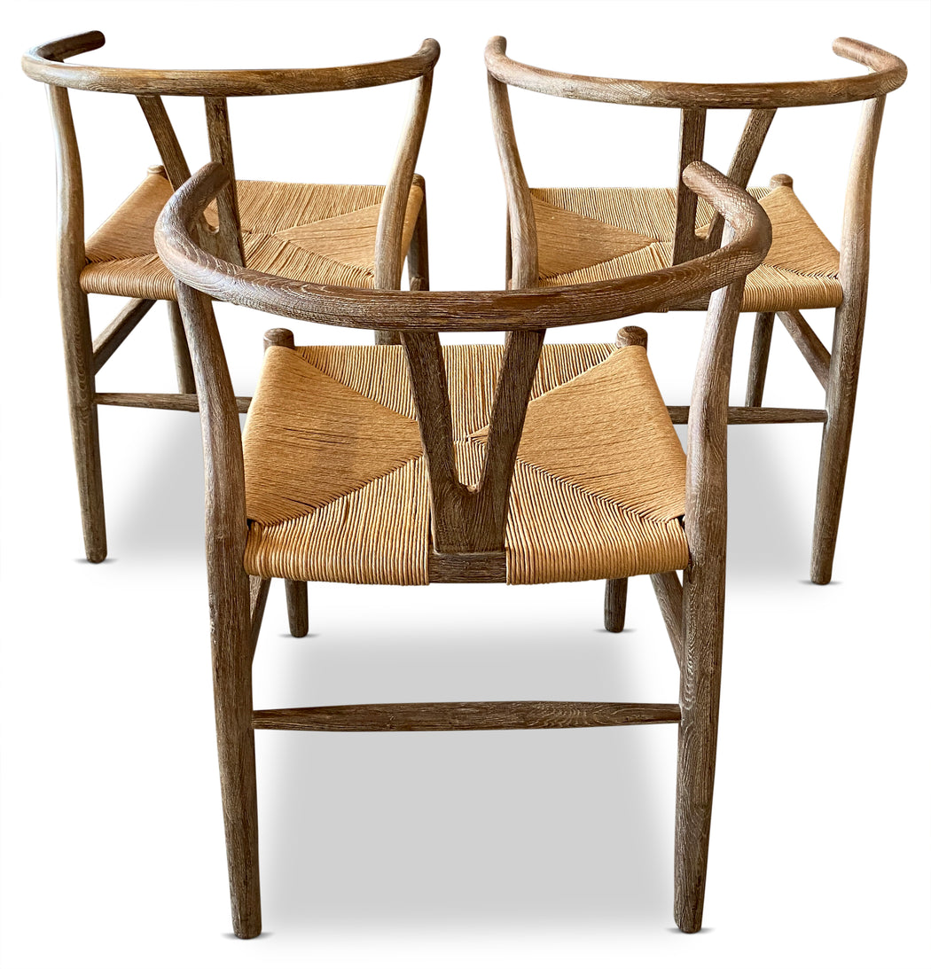 Set of 3 Wishbone Dining Chairs