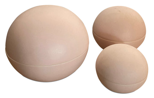 Trio of Lidded Pink Orbs