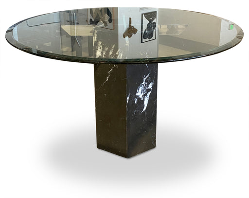 Round Black Marble Dining Table