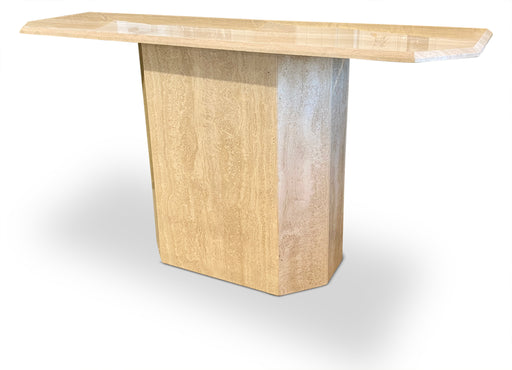 Travertine Console with Beveled Edges
