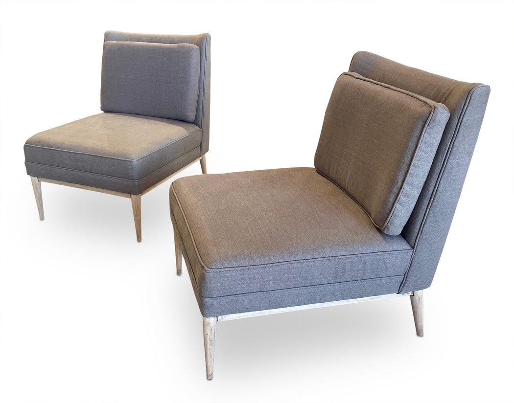 Pair of Grey MCM Side Chairs