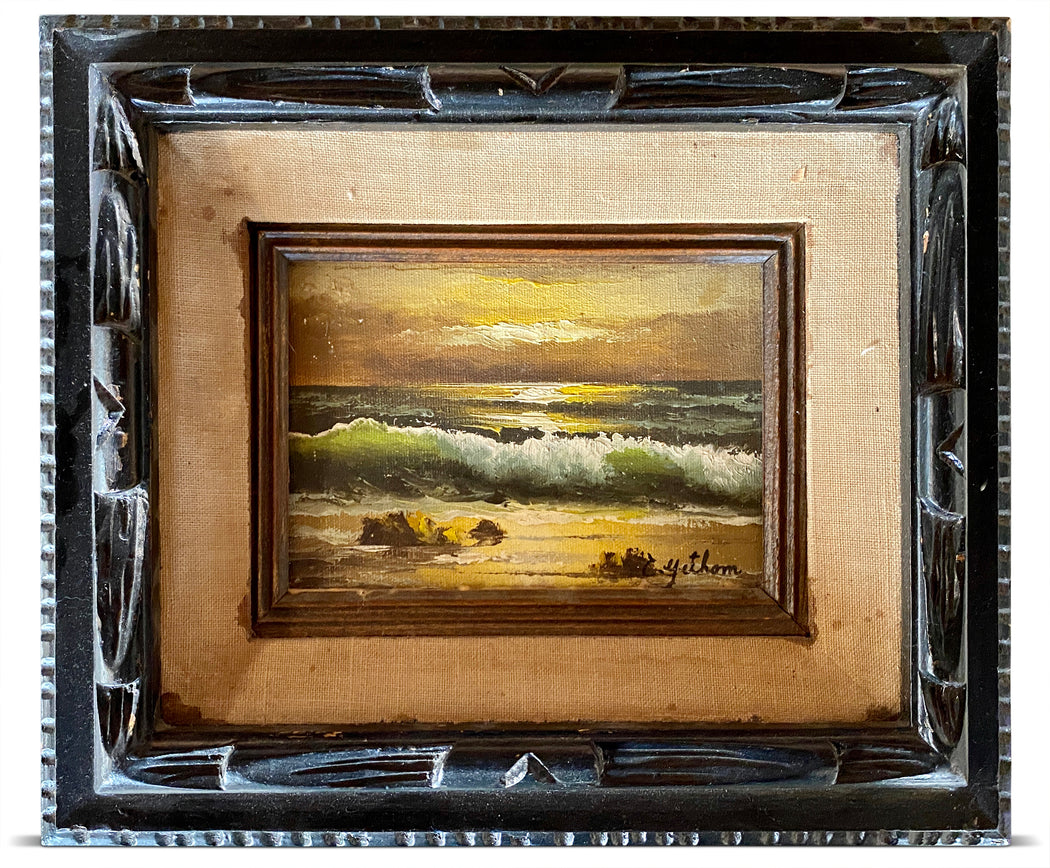 Small Framed Beach Painting