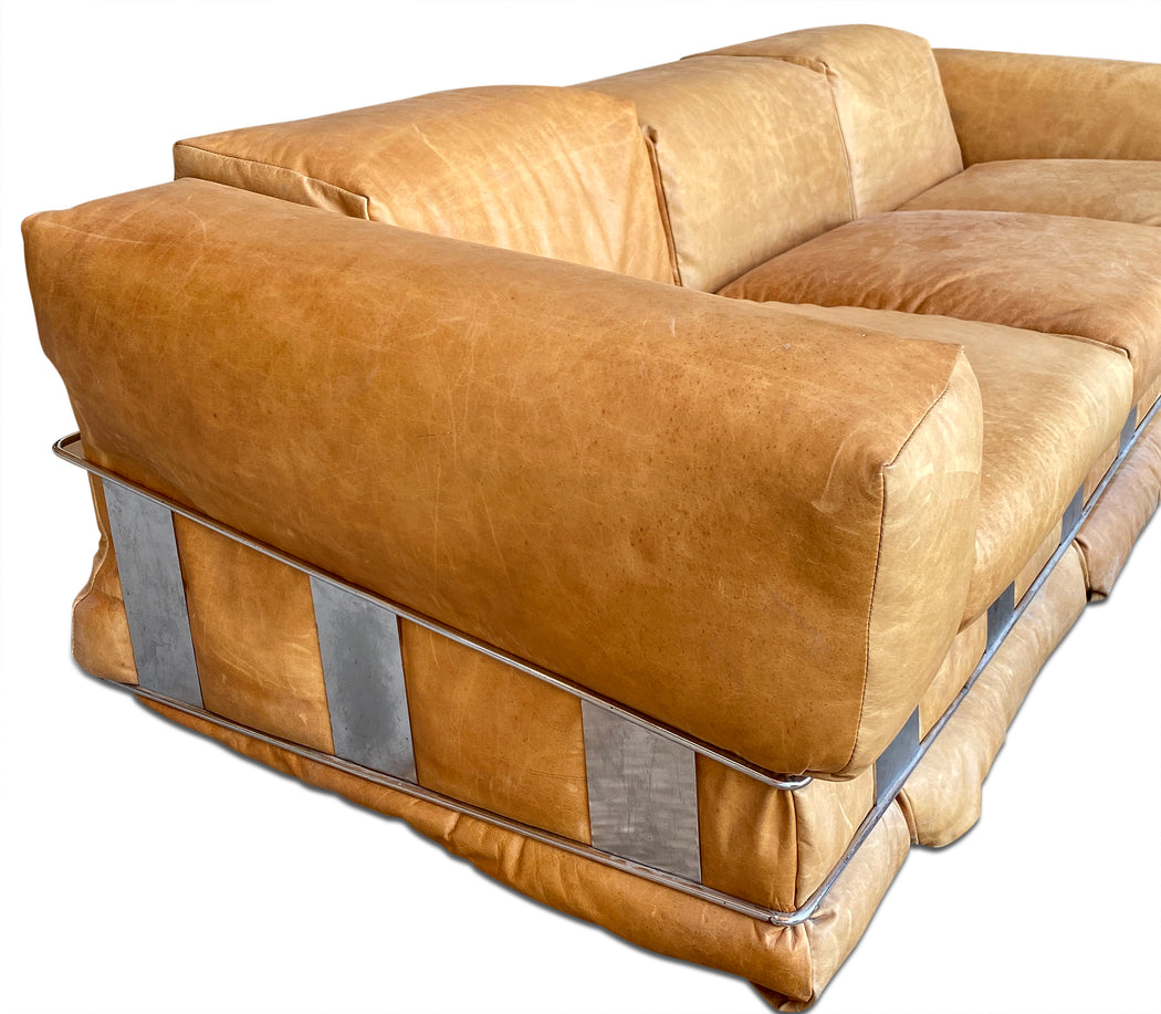 Adrian Pearsall Leather Sofa