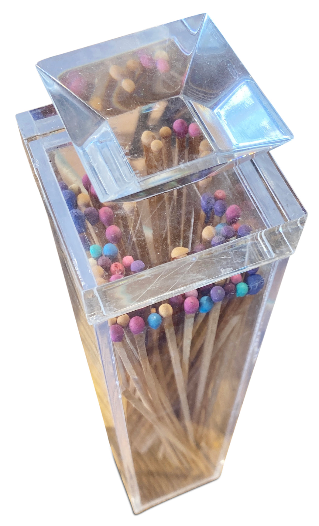 Tall Lucite Box of Matches