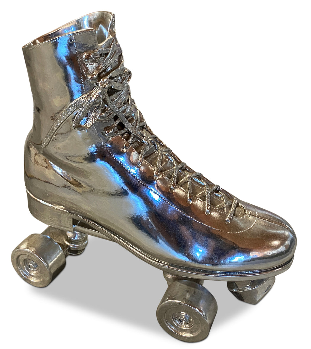 Chromed Rollerskate Sculpture