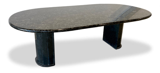 Italian Black Marble Dining Table