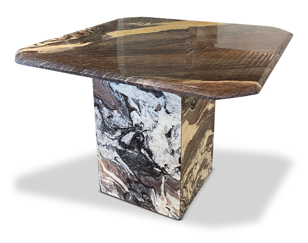 Pair of Grey Marble End Tables