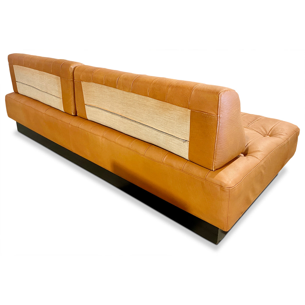 Brown Leather MCM Sofa