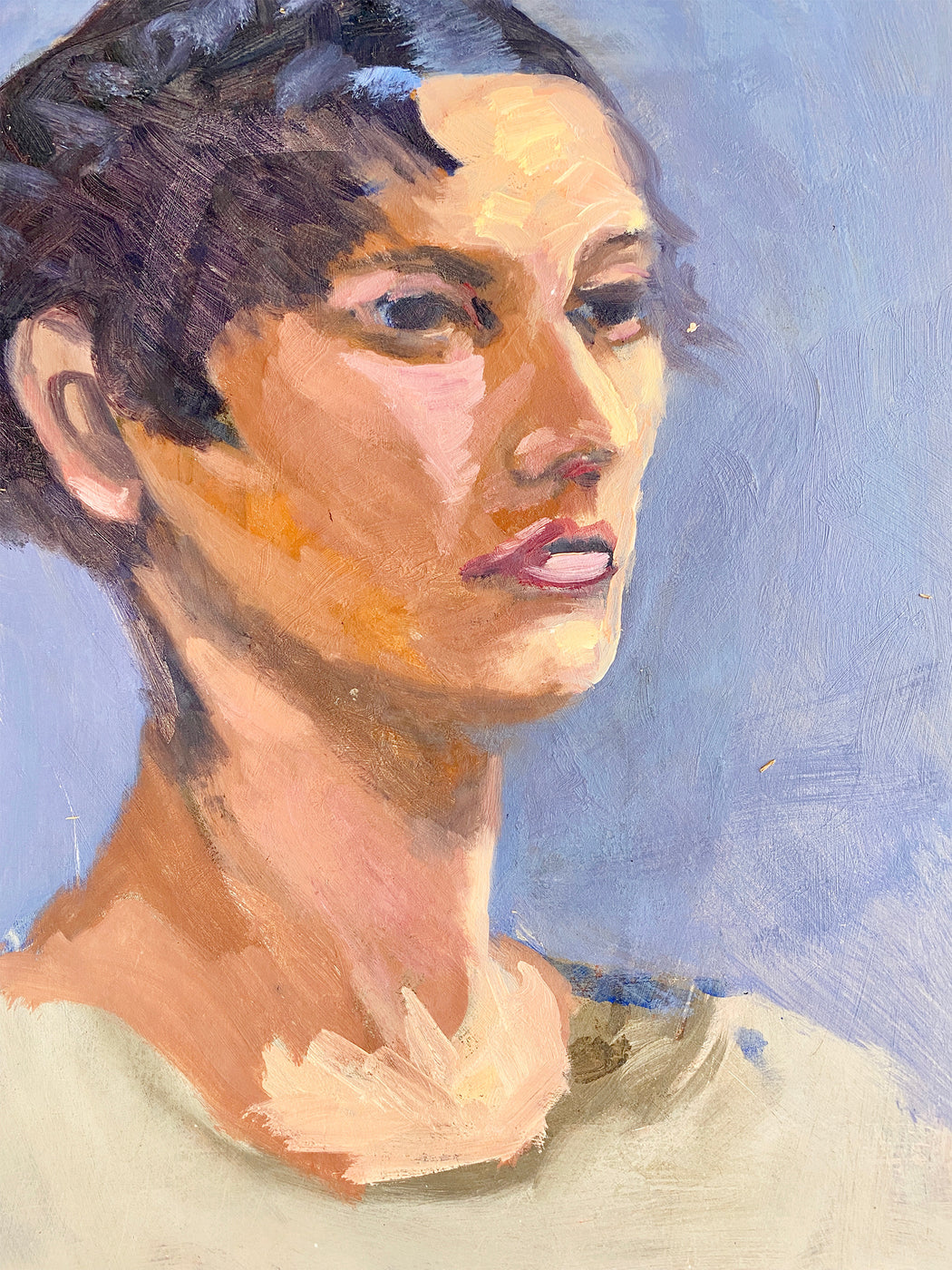 Painting of Short Haired Woman