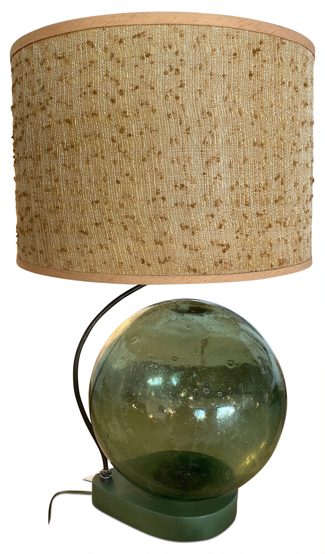 Jumbo Green Glass Orb Lamp