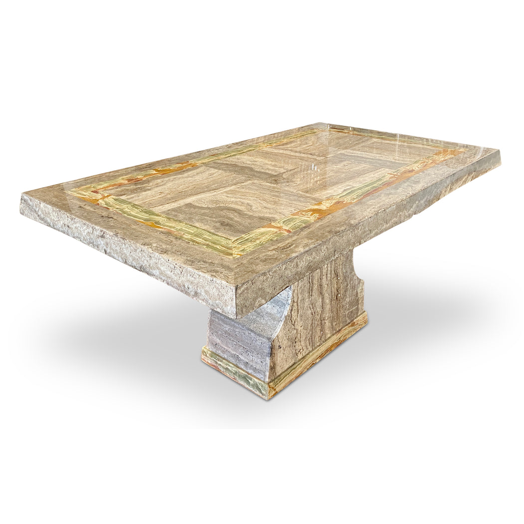 Grey Marble Dining Table