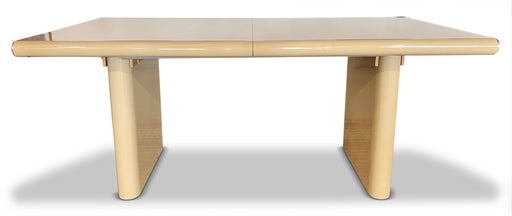 Cream Lacquer Expandable Dining Table
