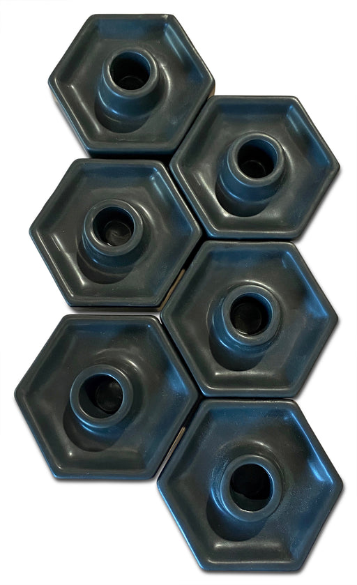 Ceramic Hexagonal Candlestick Holder