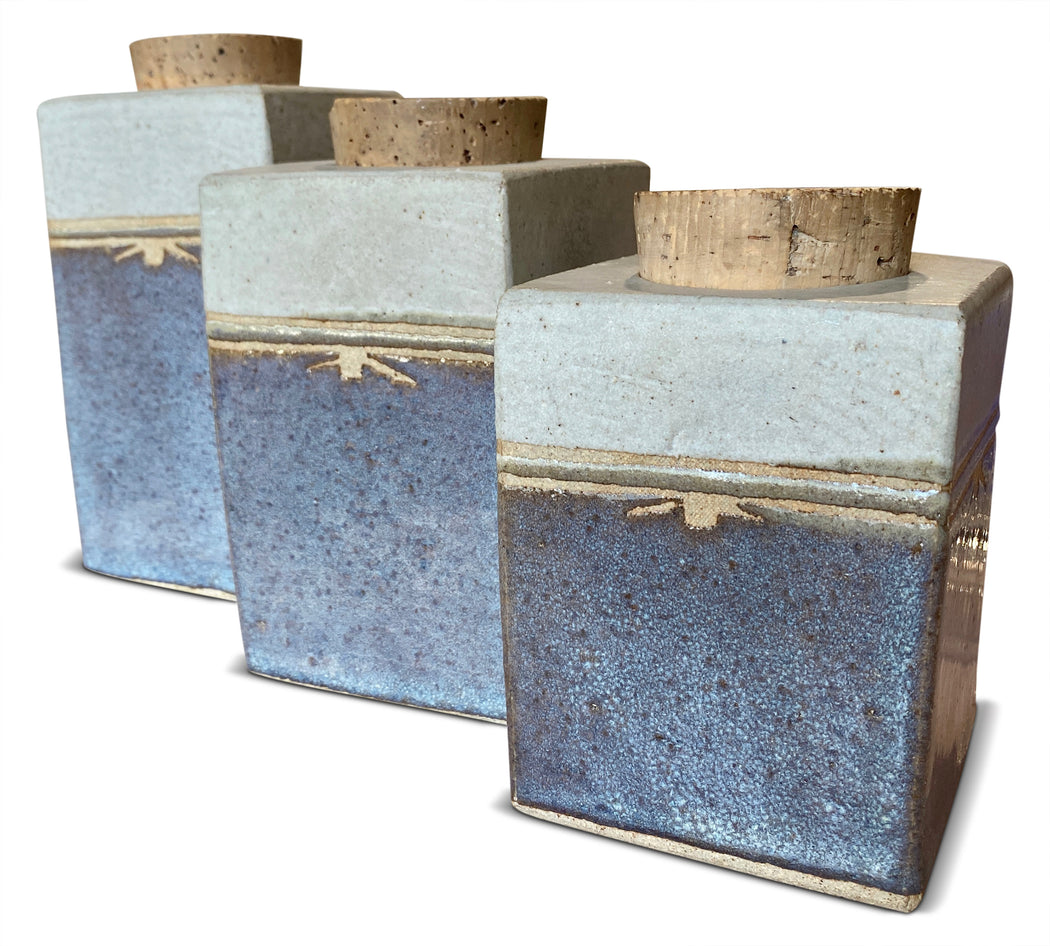 Set of 3 Studio Pottery Canisters