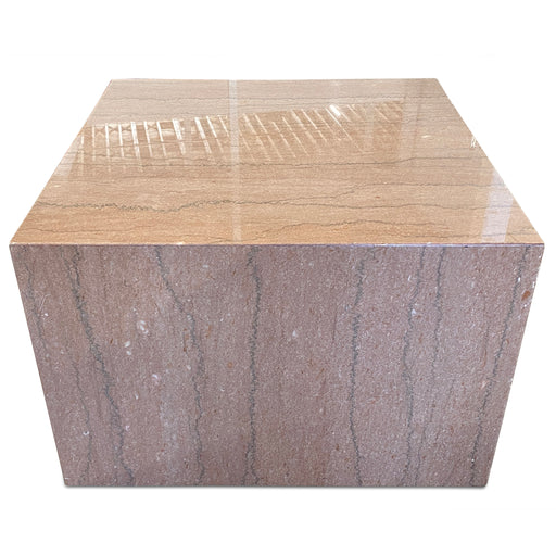Pink Marble Block Table
