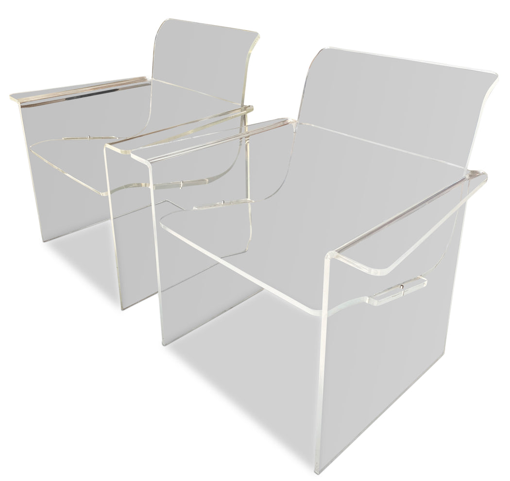 Pair of Acrylic Arm Chairs