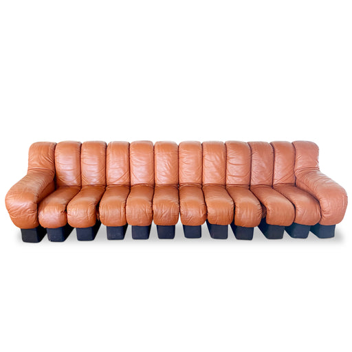 Cognac Leather 'Non Stop' Sofa by De Sede
