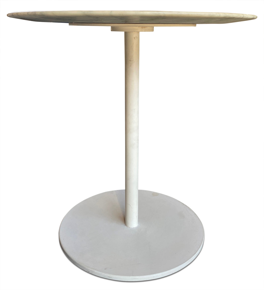 Round Marble Top End Table