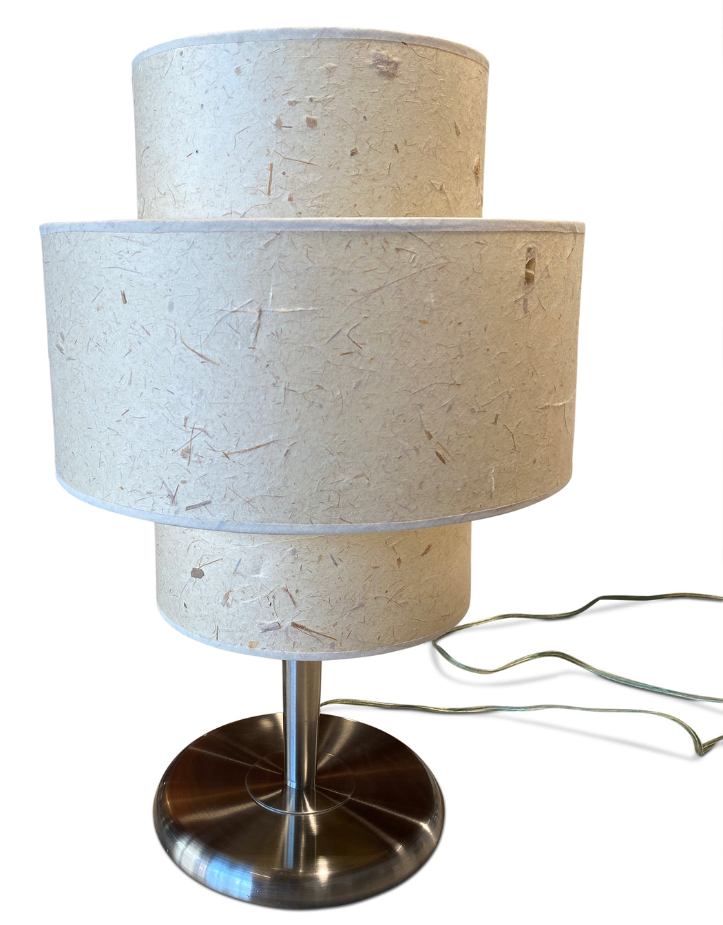 Tiered Shade Chrome Table Lamp