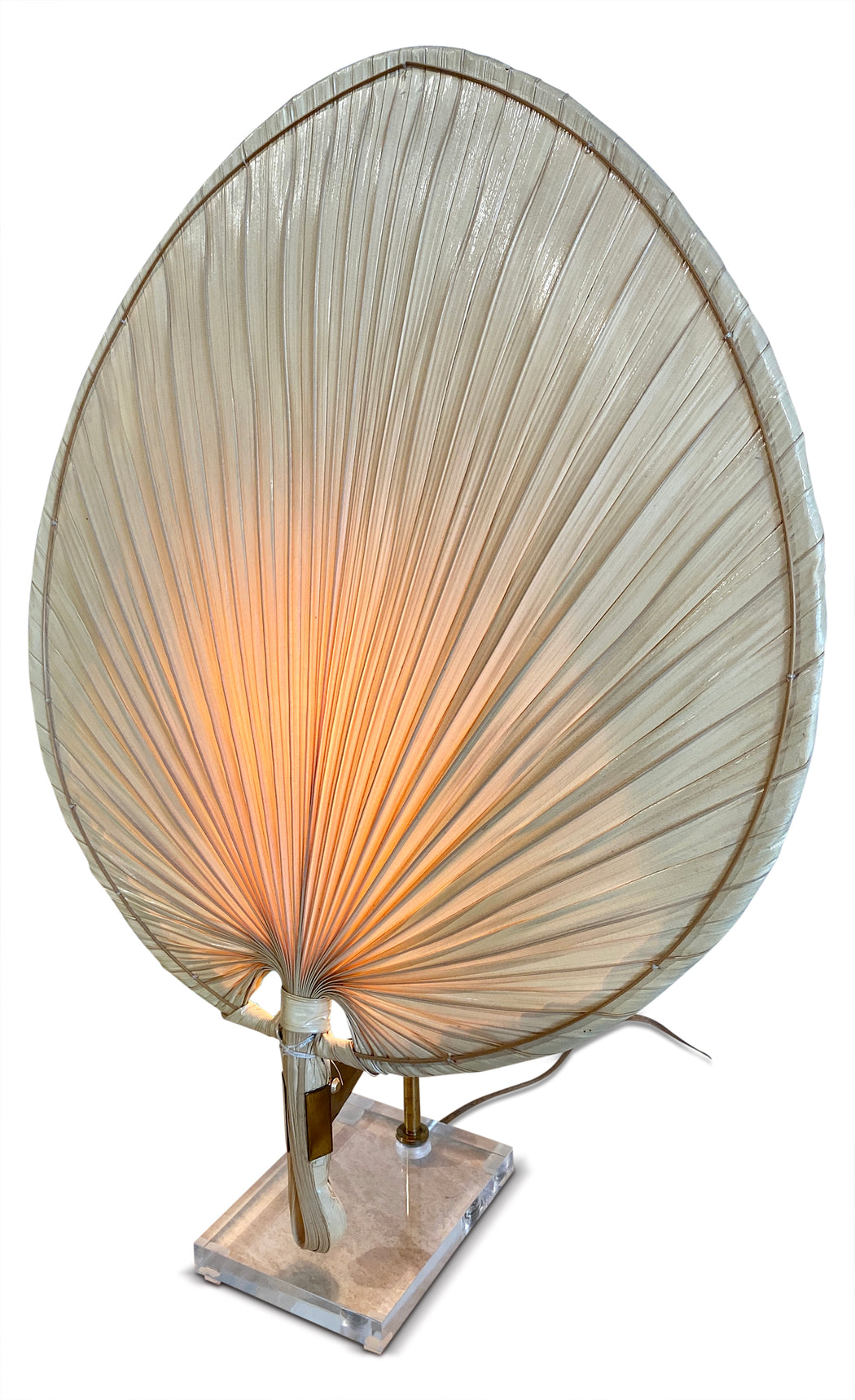 Palm Fan Table Lamp