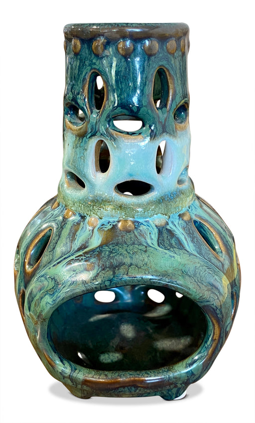 Glazed Ceramic Candle Holder