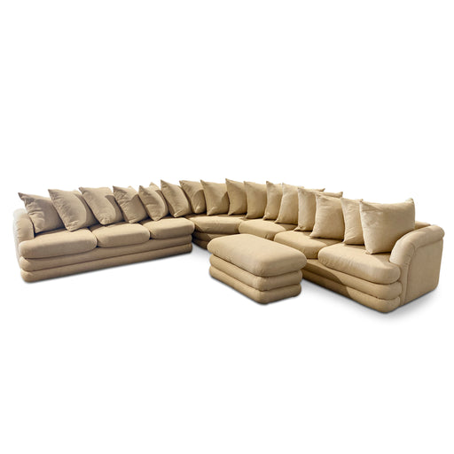 Steve Chase Cream Scalloped Sectional