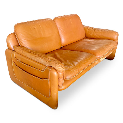 DS-61 Leather Loveseat by De Sede