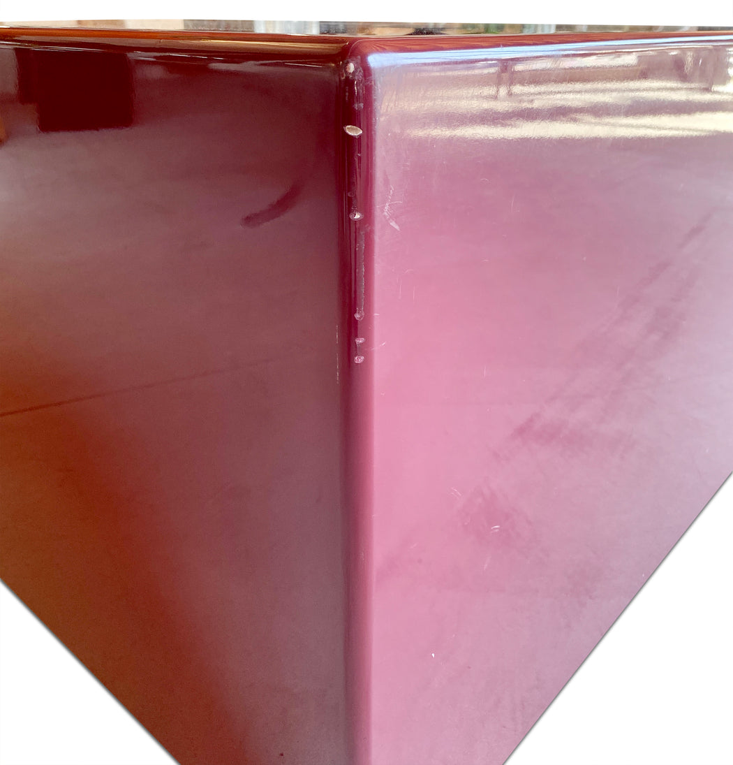 Purple Lacquer Triangle Table