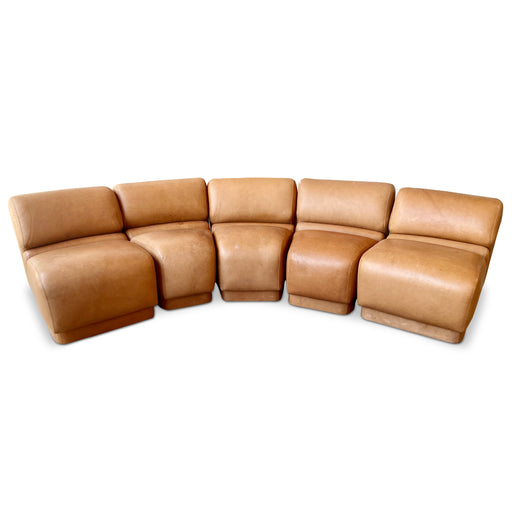 5-Piece Modular Leather Sofa by Jack Cartwright