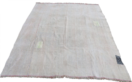 Tan Hemp Rug with Patches