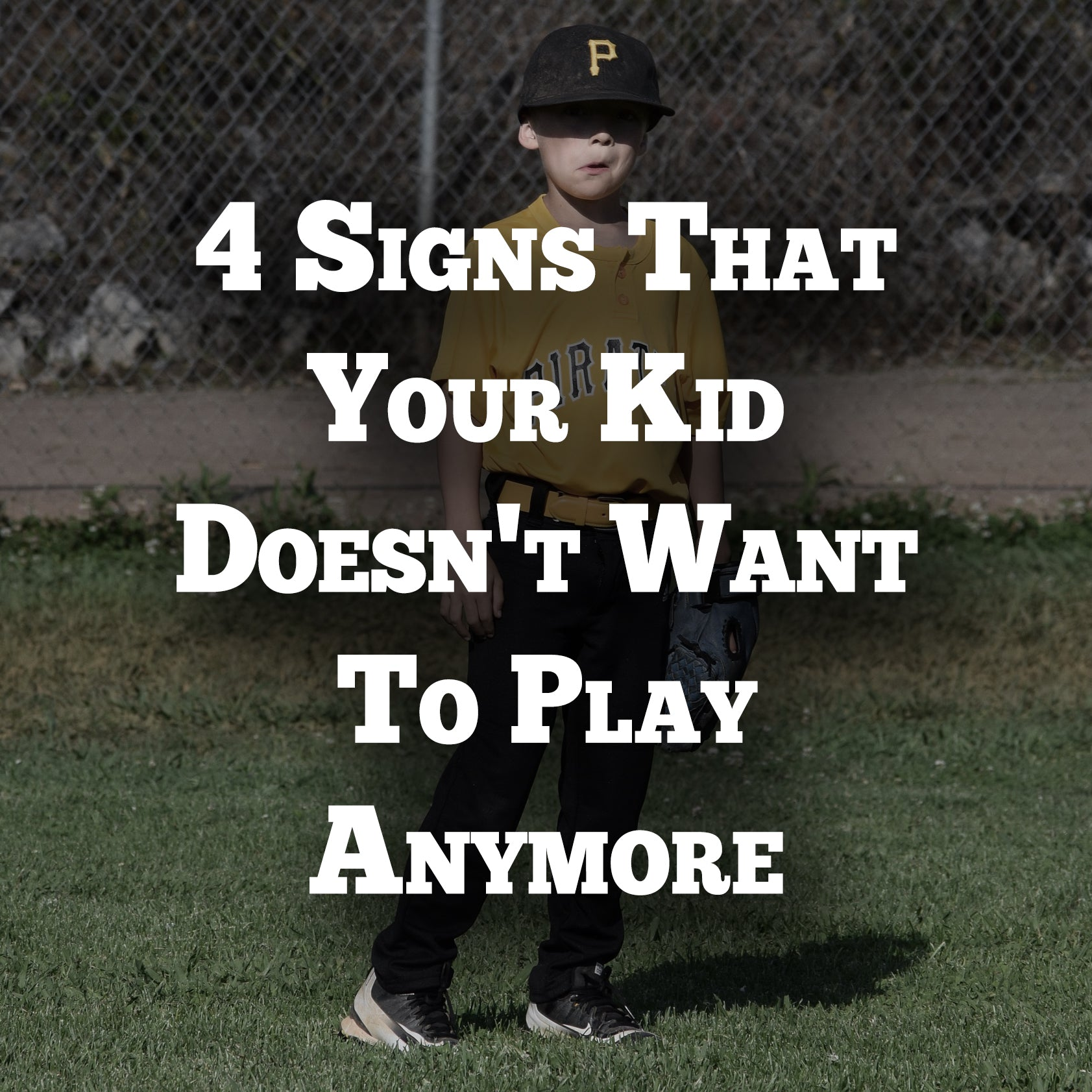 4 Signs Your Kid Doesn't Want to Play Anymore
