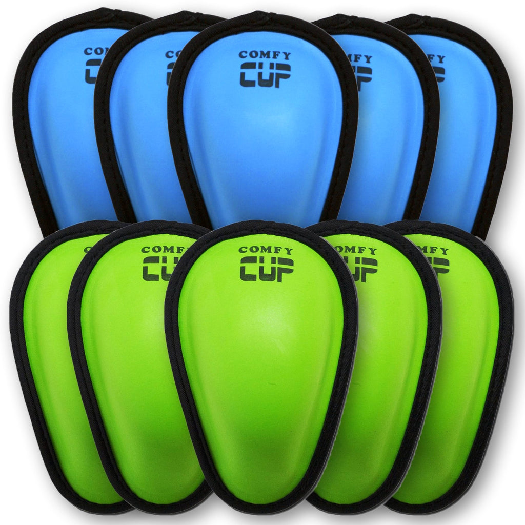 Ten Comfy Cups  (5 Neon Blue + 5 Neon Green)