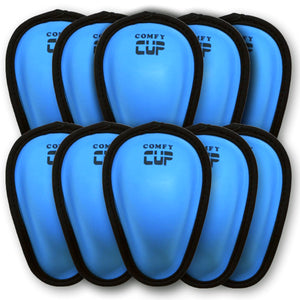 COMFY CUP IS LOW PROFILE, MADE FROM FLEXIBLE, BREATHABLE MOLDED FOAM THAT CONTOURS TO THE BODY, AND IS SIZED TO FIT LITTLE ATHLETES JUST STARTING OUT WITH CONTACT SPORTS LIKE BASEBALL, HOCKEY, LACROSSE, FOOTBALL, RUGBY, MARTIAL ARTS, SOCCER, TAE KWON DO, KARATE, SPARRING