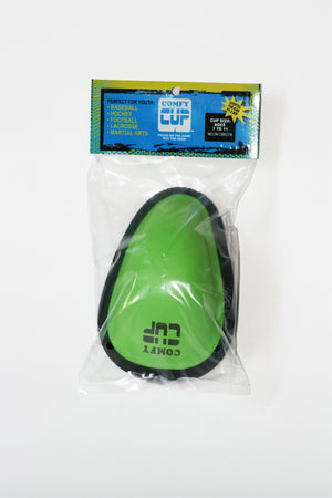 Easy to open packaging. Comfy Cup is lightweight, soft and flexible. Sized for boys ages 7-11 years old.