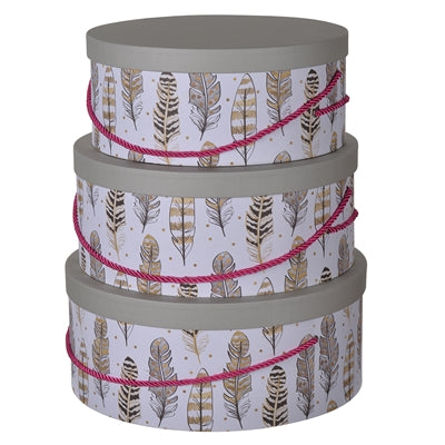 S/3 Albany Round Hat Boxes