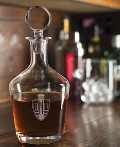 Engraved Craft Whiskey Decanter