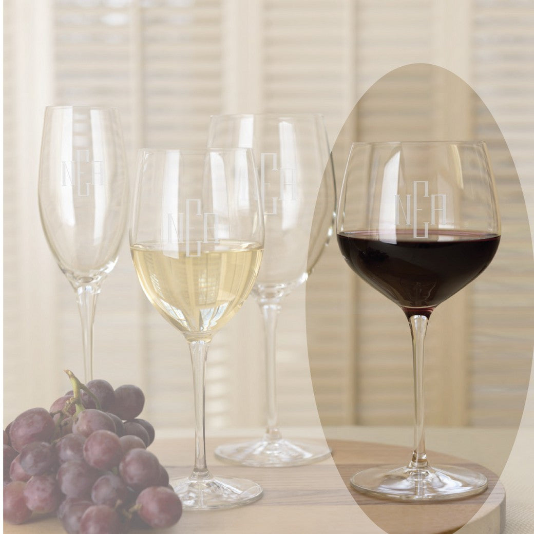 Reflections 17.5 oz. Balloon Monogrammed Wine Glasses set